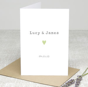 'Special Date' Personalised Greetings Card - wedding cards