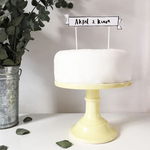 Personalised Scroll Wedding Cake Topper