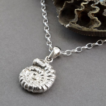 Sterling Silver Ammonite Pendant