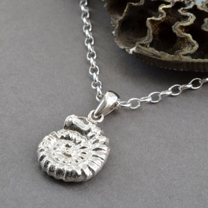 Sterling Silver Ammonite Pendant - necklaces