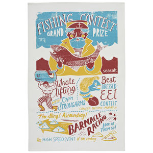 Seasalt Fishing Contest Cotton Tea Towel