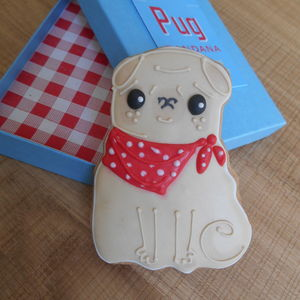 Pug Bandana Biscuit - biscuits and cookies