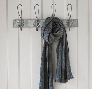Antique Galvanised Hook Rail - bedroom