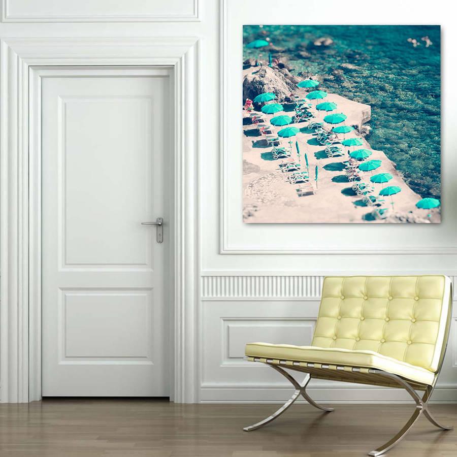 Aerial Beach Photography Canvas Wall Art