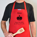 Personalised 'King Of The BBQ' Apron