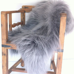 Grey Icelandic Sheepskin Rug - dreamland nursery