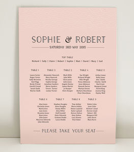 Millie Wedding Table Plan - wedding stationery