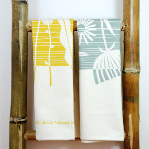 Summer Weeds Tea Towel