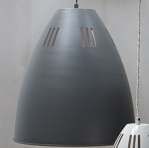 Large Cavendish Vented Pendant Light In Charcoal - pendant lights