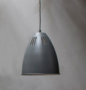 Small Cavendish Vented Pendant Light In Charcoal - pendant lights