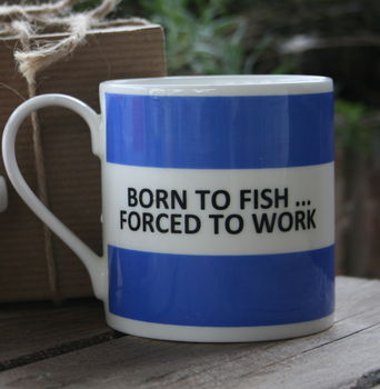 'Born To Fish Fine Bone China Mug