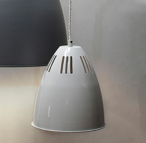 Small Cavendish Vented Pendant Light In Chalk - ceiling lights