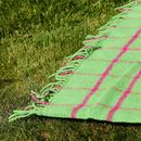 Bright Check Wool Picnic Blanket