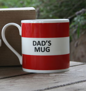 'Dad's Mug' Fine Bone China Mug