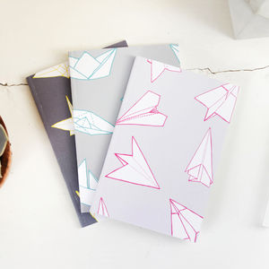Origami Pattern A6 Pocket Notebooks - stationery-lover