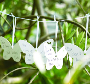 Butterfly Keepsake Wedding Wishes