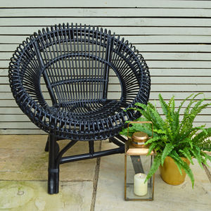 Black Wicker Chair - dining room