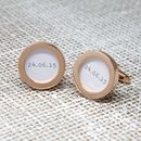 'Special Date' Personalised Cufflinks
