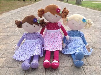 Rag Dolls Iris, Scarlet And Skye