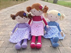 Rag Dolls Iris, Scarlet And Skye - toys & games