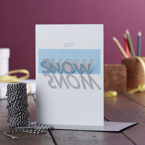 Papercut Let It Snow Pop Out Christmas Card