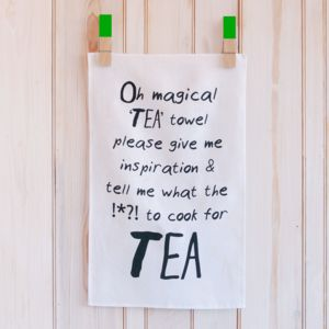 'Oh Magical' Linen Tea Towel