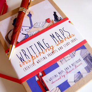 Writing Prompts Maps Box Set - travel journals & diaries