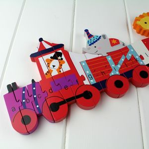 Circus Animal Alphabet Jigsaw Puzzle Train - children's circus
