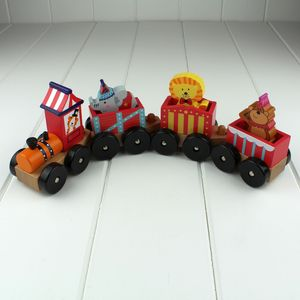 Children's Wooden Circus Train