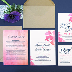 Pink Blossom Wedding Invitation - invitations