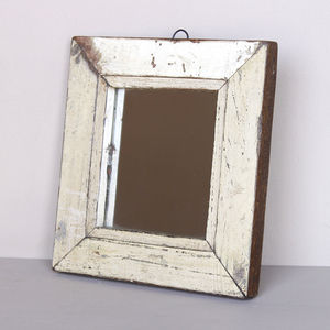 Distressed Cream Mirror