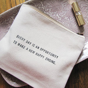 Message Wash Bag - just-be-your-beautiful-self