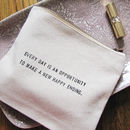 Message Wash Bag
