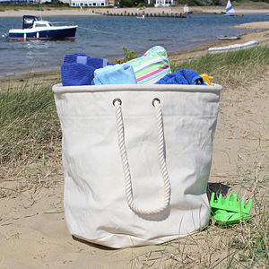Big Canvas Beach Bag
