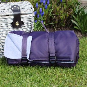 Lilac And Lavender Picnic Blanket