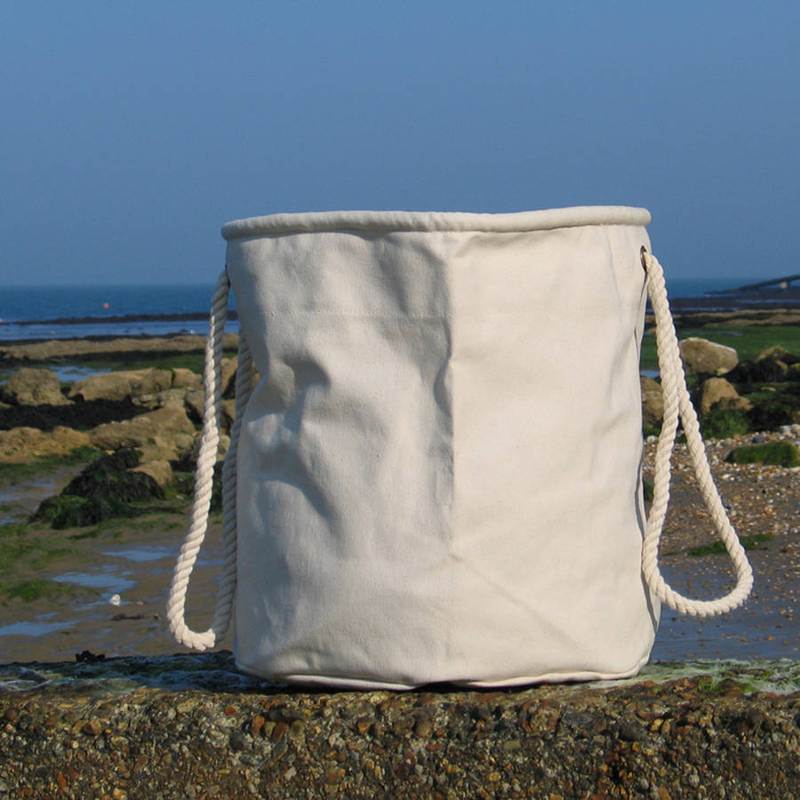 big canvas beach bag by the original canvas bucket bag company ...