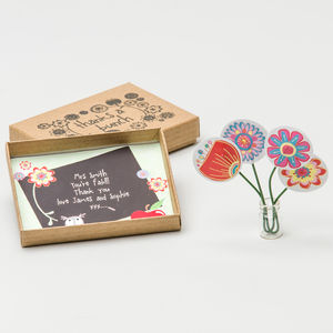 Personalised Teacher 'Thanks A Bunch' Thank You Box