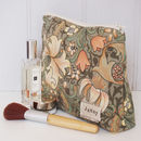 Make Up Bag William Morris Green Lily
