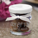 Personalised Mini Glass Favour Jar With Names