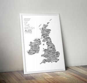 Map Of The British Ales - posters & prints