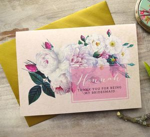 'Will You Be Bridesmaid / Maid Of Honour' Card - be my bridesmaid?