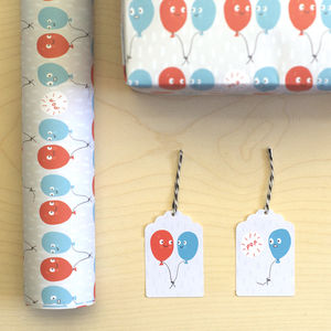 'Burst Balloons' Gift Wrap Set