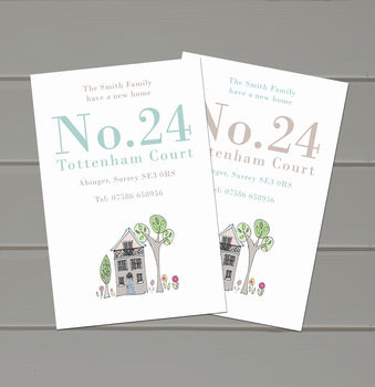 Personalised Number New Address Cards