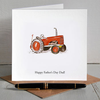 Vintage Tractor Personalised Father's Day Card