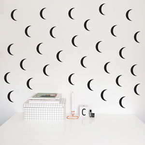 Moon Pattern Wall Stickers - wall stickers