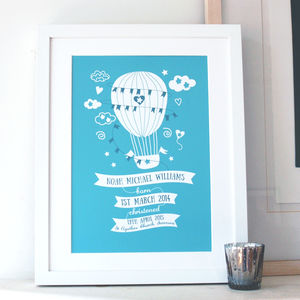 Personalised Christening And New Baby Art Print - posters & prints