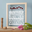 Wine Lover Papercut