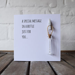 Personalised Message In A Bottle Card - engagement cards
