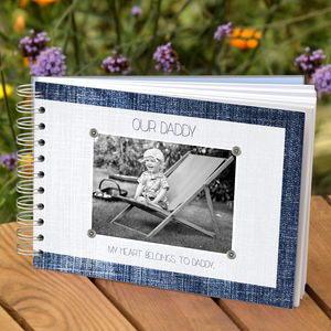 Personalised Dad Keepsake Book - gifts for new dads
