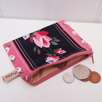 Coin Purse Rose Stripe